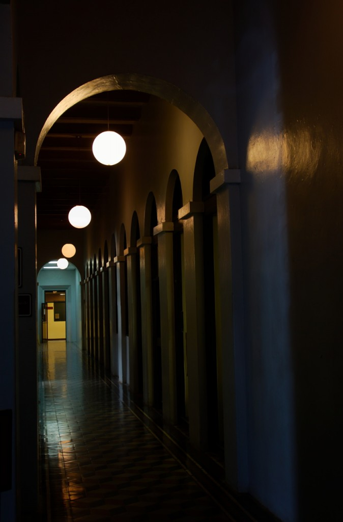 Hallway in the main building of University Sagrado Corazón