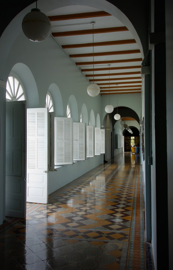 Front hallway in the main building of the University Sagrado Corazón